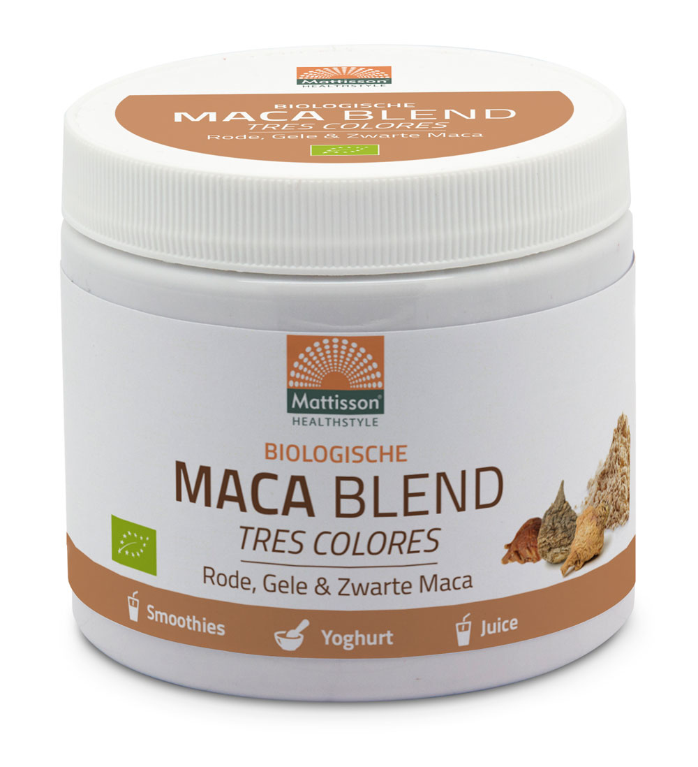 Maca Poeder BIOBlend - Rode, Gele & Zwarte Maca 300 gram