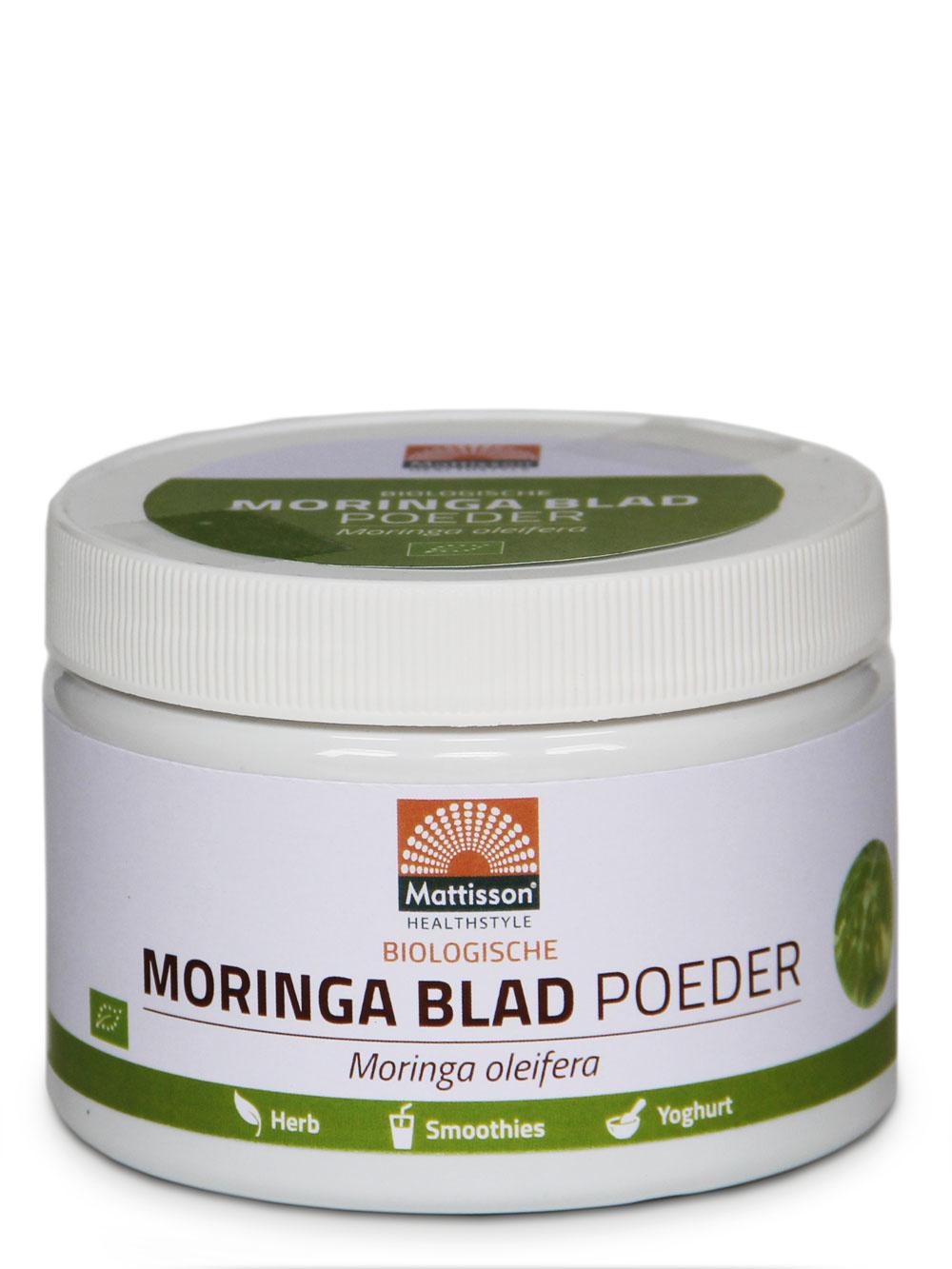 Moringa Blad Poeder  Absolute  Bio Raw 125 gram