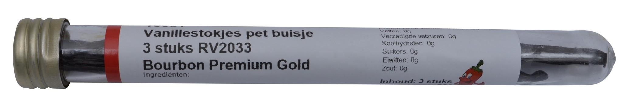 Vanillestokjes Bourbon Premium Gold