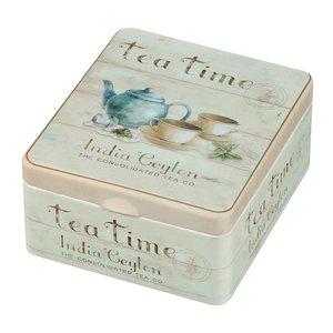 Thee/Kruidenblik 4-vaks Tea Time