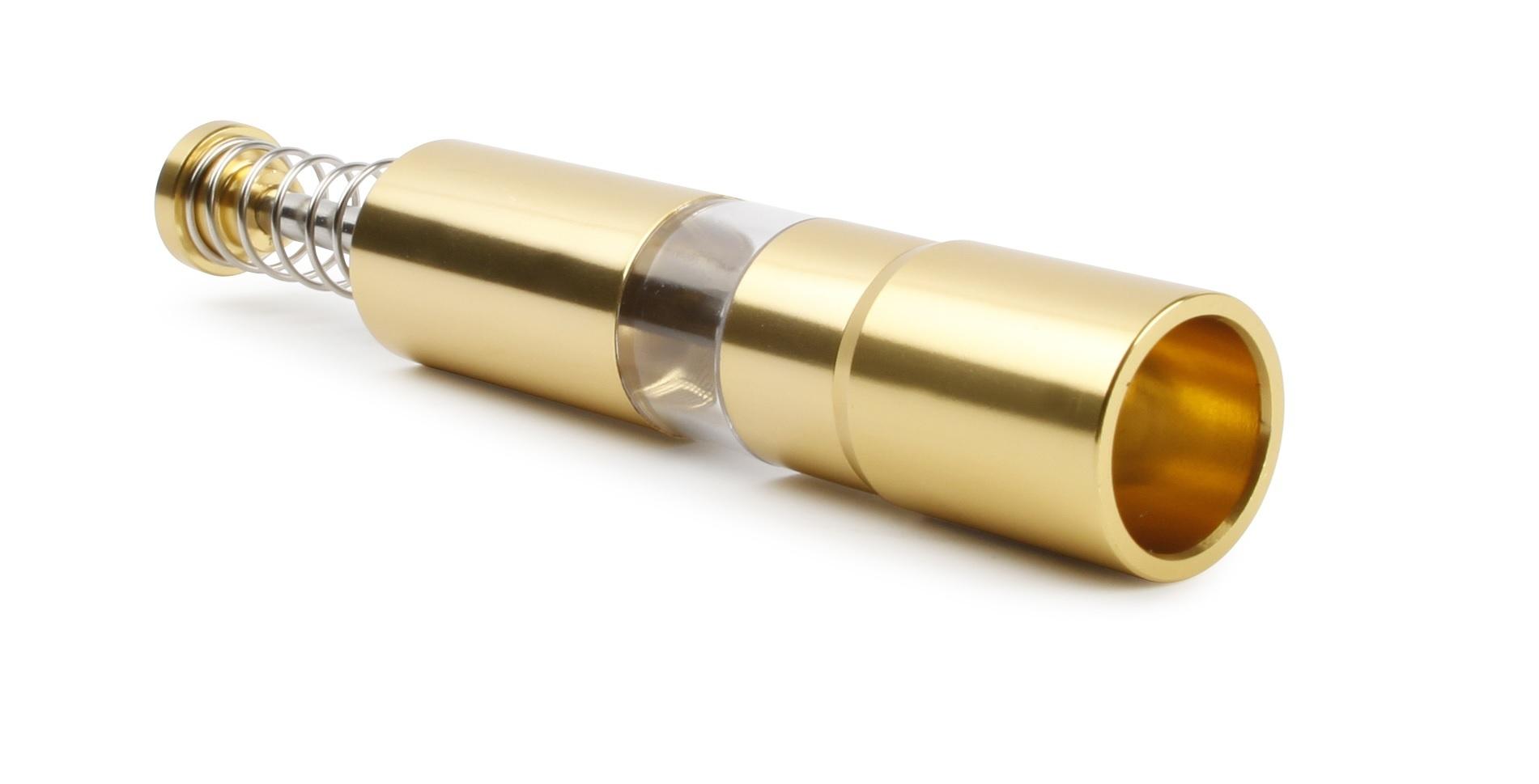 Peper- of zoutmolen aluminium goud