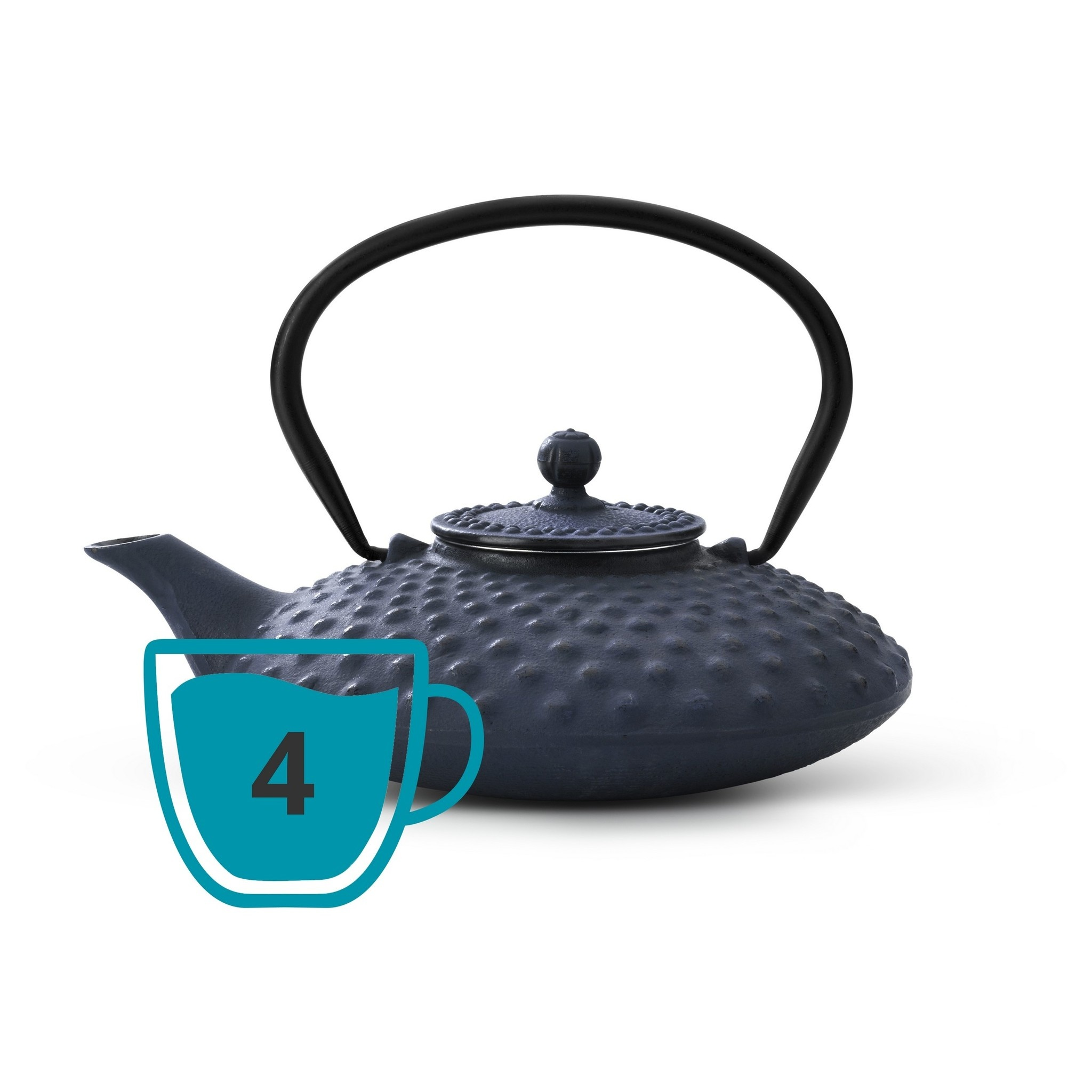 Bredemeijer Theepot Xilin 0.8 L gietijzer blauw