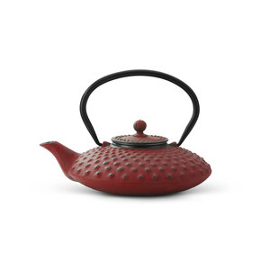 Bredemeijer Theepot Xilin 0.8 L gietijzer rood