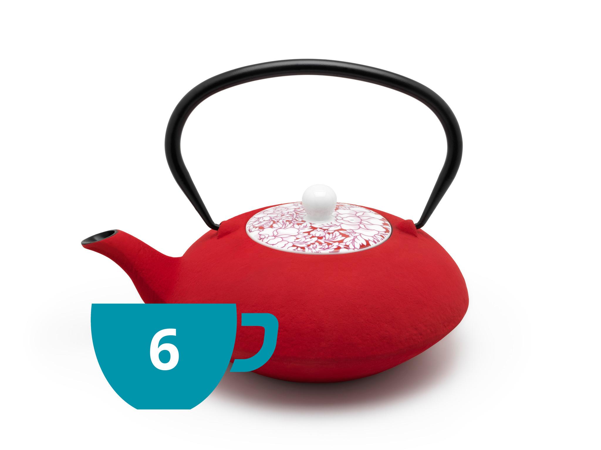 Theepot Yantai 1.2 L rood
