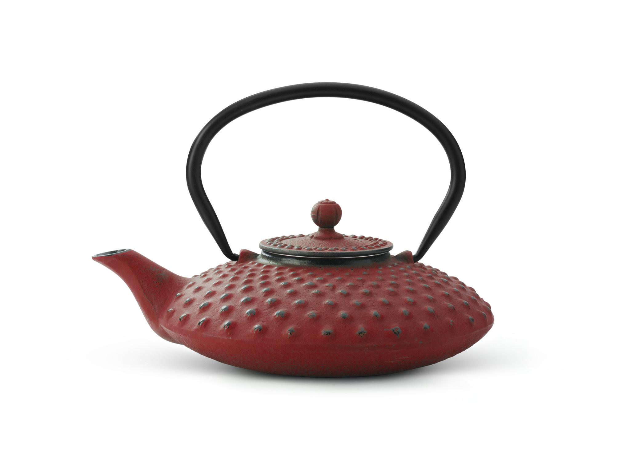 Theepot Xilin 0.8 L gietijzer rood
