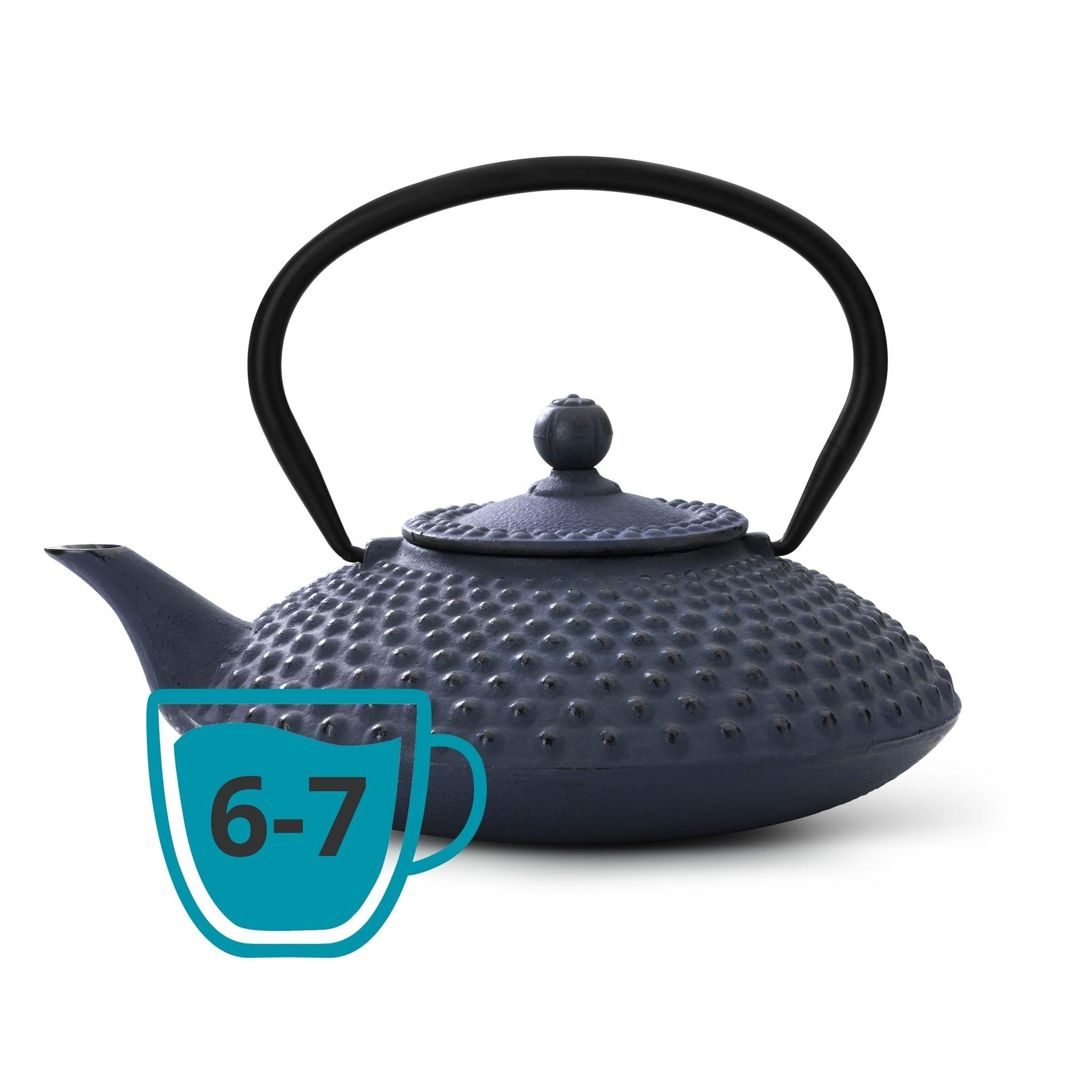 Theepot Xilin 1.25 L gietijzer blauw