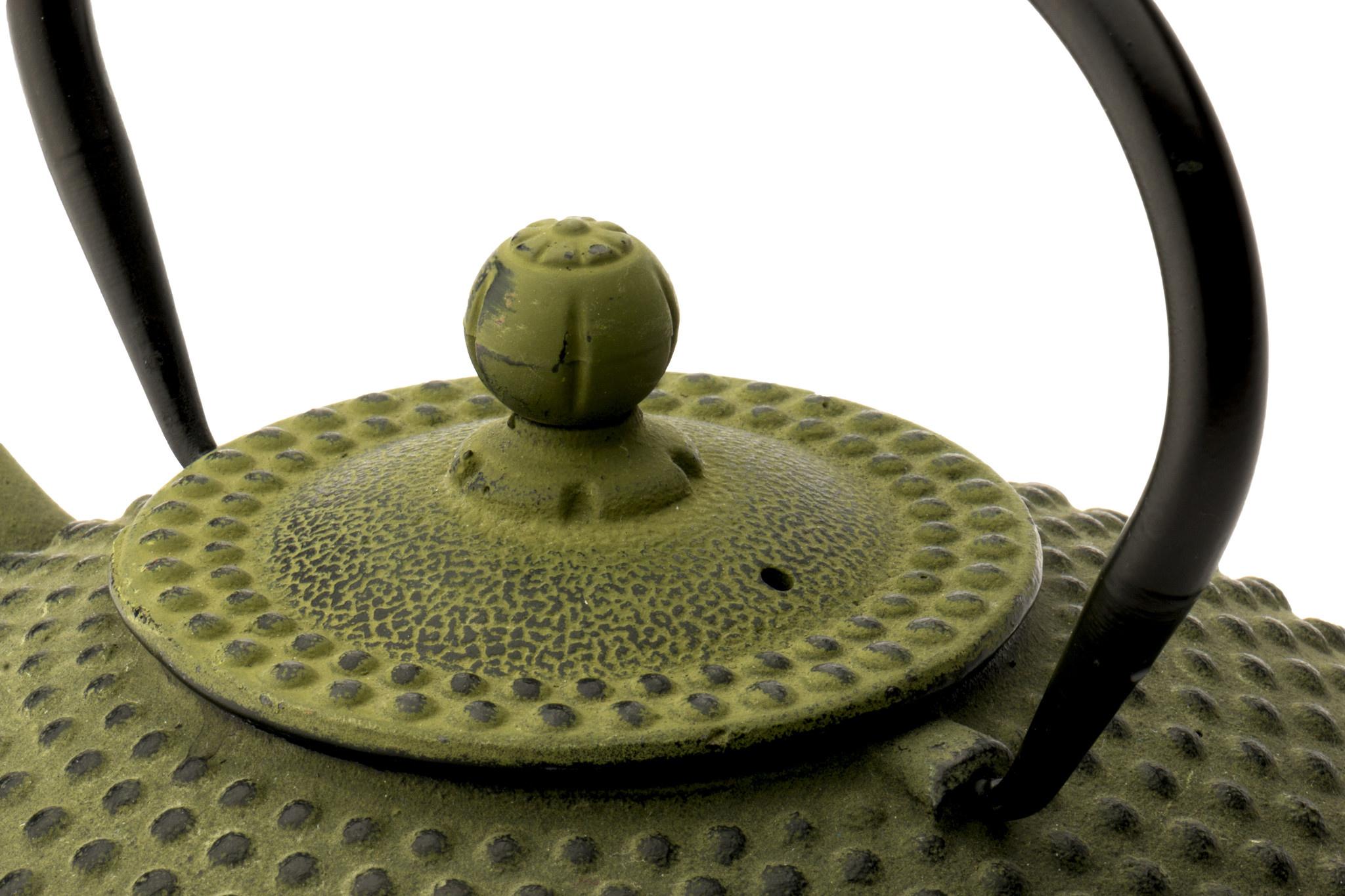 Theepot Xilin 1.25 L gietijzer groen