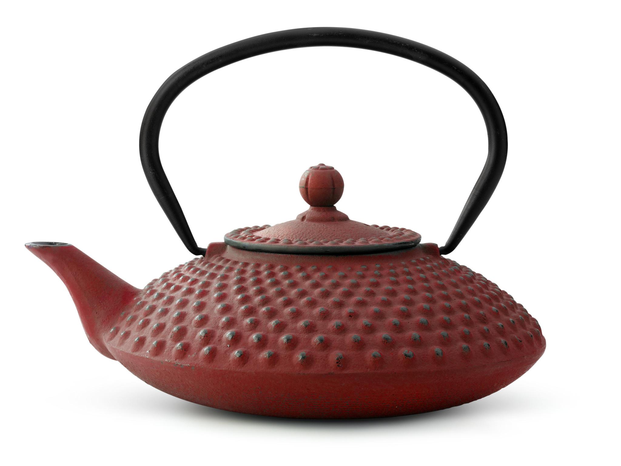 Theepot Xilin 1.25 L gietijzer rood