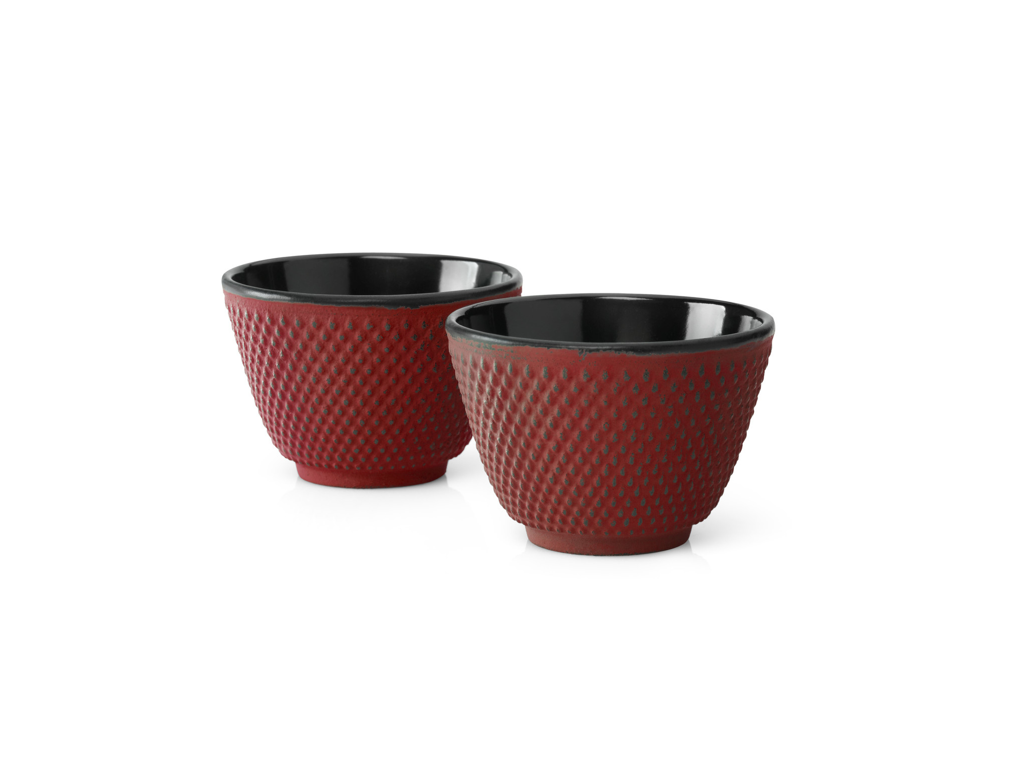 Kopjes Xilin  gietijzer rood set a 2 stuks