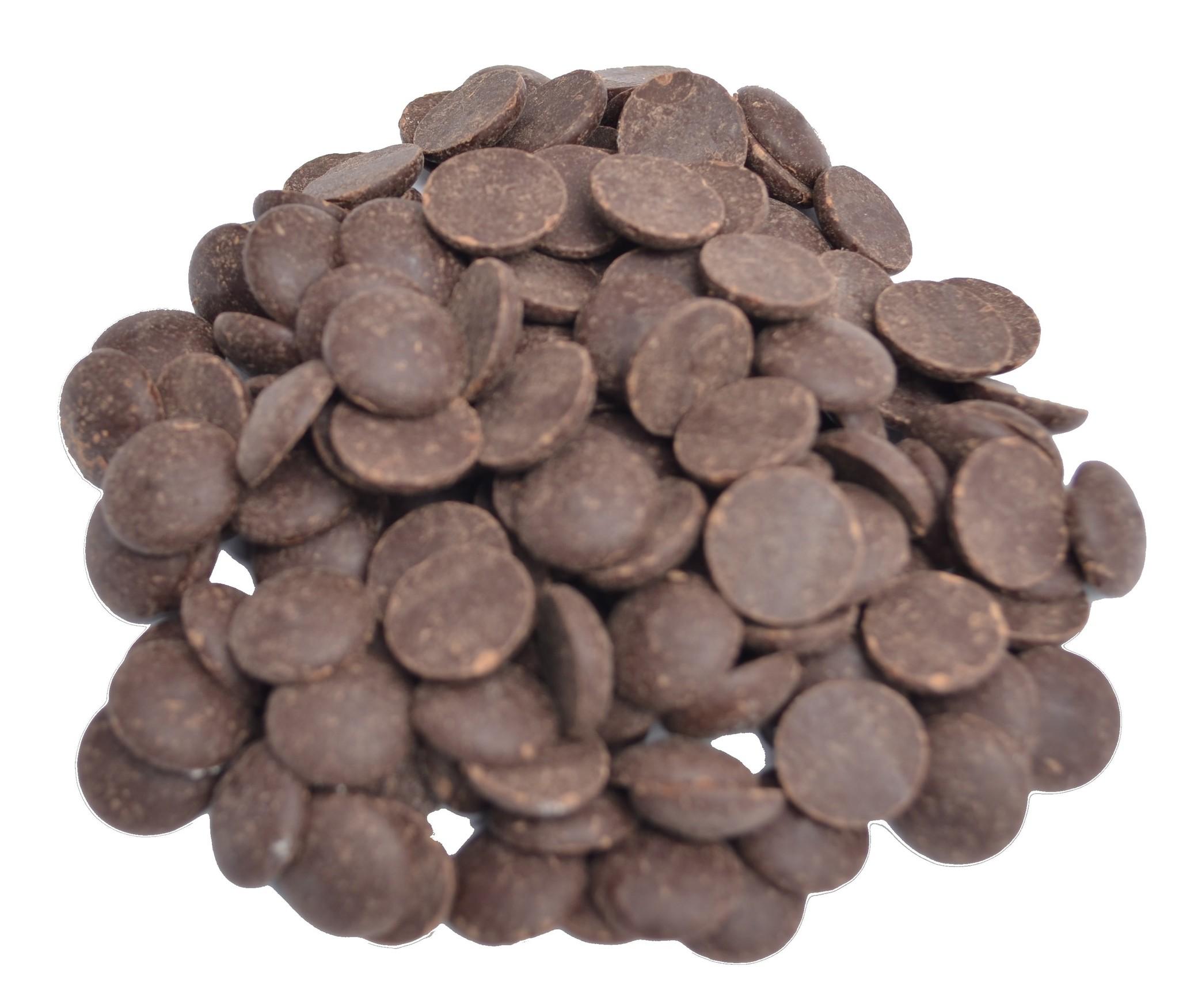 Chocolade druppels puur Callebaut 80% zak 1 kilo