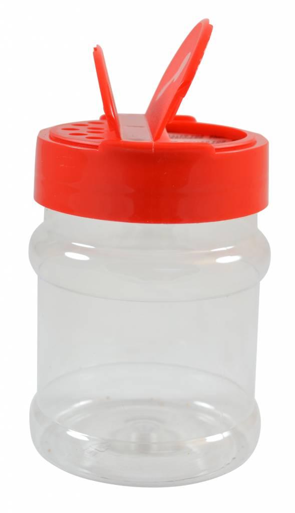 Strooibus kunststof 230 ml met rode deksel