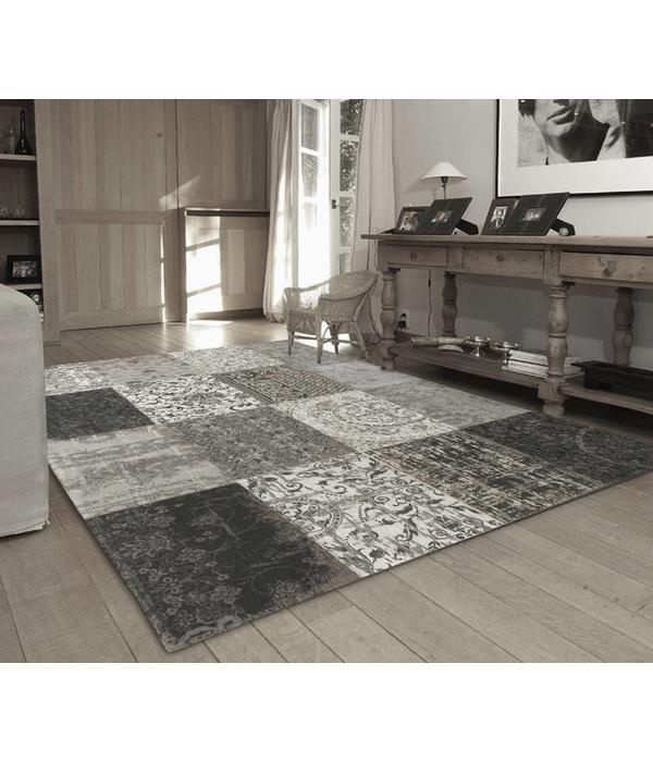 Louis De Poortere Vintage Patchwork - Black & White 8101