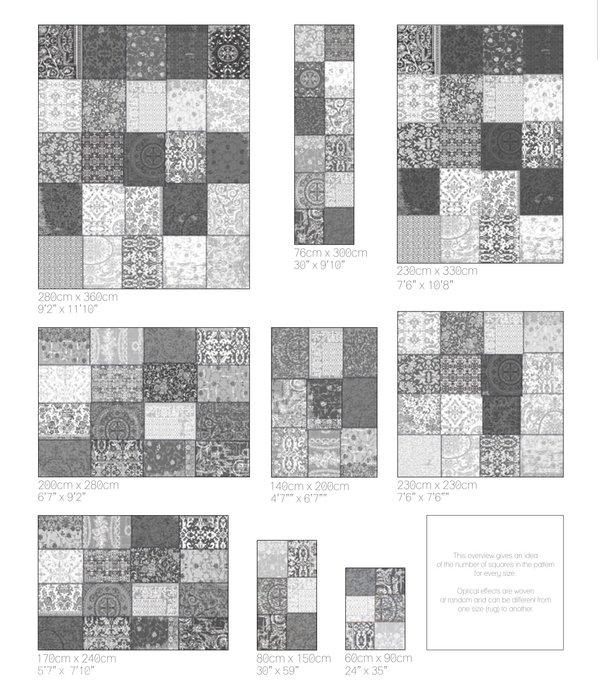 Louis De Poortere Vintage Patchwork - Black & White 8101 - Outlet