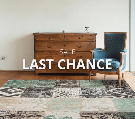 Last chance rugs : until stock last