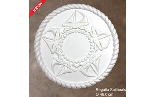 Grand Decor Rozet kinderkamer REGATTA SAILBOATS diameter 46,0 cm