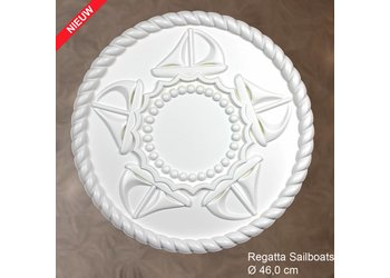 Grand Decor Rozet REGATTA SAILBOATS diameter 46,0 cm babykamer / kinderkamer