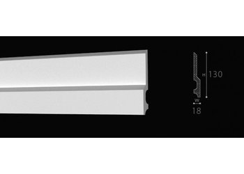 NMC Wallstyl / Floorstyl FD22 (130 x 18 mm), lengte 2 m
