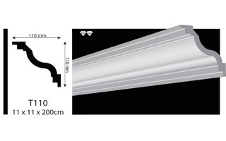 Vidella VT110 (110 x 110 mm), lengte 2 m OP=OP