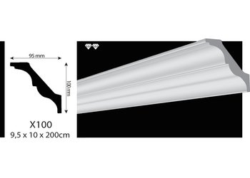 Vidella VX100 (95 x 100 mm), lengte 2 m