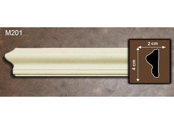 Grand Decor Kaderlijst M201 (40 x 20 mm), polyurethaan, lengte 2 m