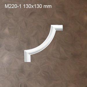 Grand Decor M220-1 / CR954A hoekbochten (130 x 130 mm), polyurethaan, set (4 hoeken)