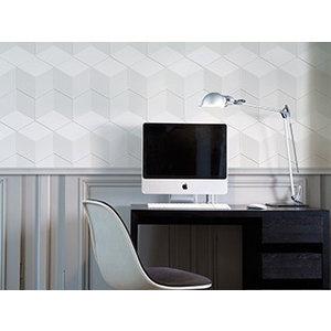 NMC 3D Wallpanel / Wandpaneel Cube Polyurethaan (1135 x 350 x 24 mm) - 6 Wandpanelen