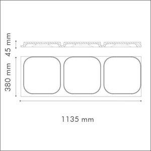 NMC 3D Wallpanel / Wandpaneel Icon Polyurethaan (1135 x 380 x 45 mm) - 3 Wandpanelen