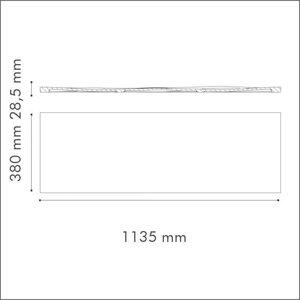 NMC 3D Wallpanel / Wandpaneel Liquid Polyurethaan (1135 x 380 x 28.5 mm)  - 6 Wandpanelen