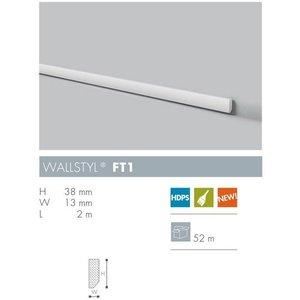 NMC Wallstyl FT1 (38 x 13 mm), lengte 2 m