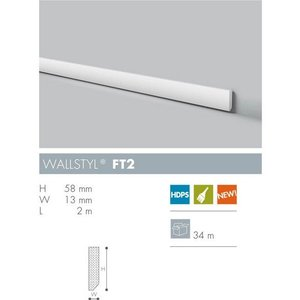 NMC Wallstyl FT2 (58 x 13 mm), lengte 2 m