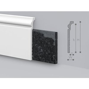 NMC Wallstyl CF3 Overzetplint (120 x 22 mm), lengte 2 m