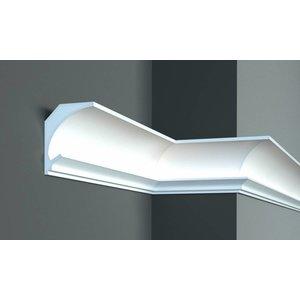 Tesori LED sierlijst voor indirecte verlichting XPS, KD201 (115 x 90 mm), lengte 1,15 m