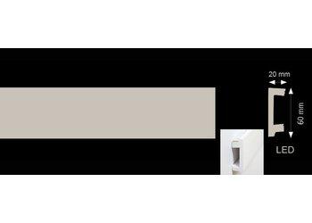 Homestar Plint CU (60 x 20 mm), lengte 2 m