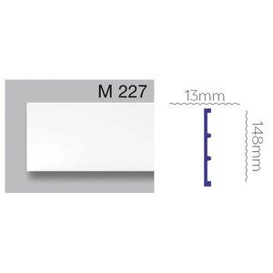 Grand Decor Platte plint M227 / CR958 (148 x 13 mm) polyurethaan, lengte 2 m