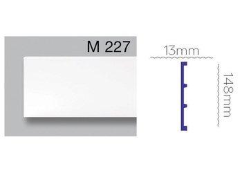 Grand Decor Platte plint M227 (148 x 13 mm) polyurethaan, lengte 2 m