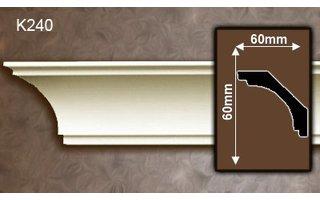 Grand Decor Kroonlijst K240 (60 x 60 mm), polyurethaan, lengte 2 m