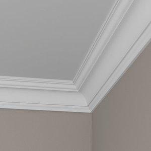 Grand Decor Kroonlijst K262 / P835 (83 x 83 mm), polyurethaan, lengte 2 m