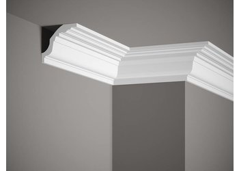 Grand Decor Kroonlijst K202 / P905 (75 x 82 mm), polyurethaan, lengte 2 m