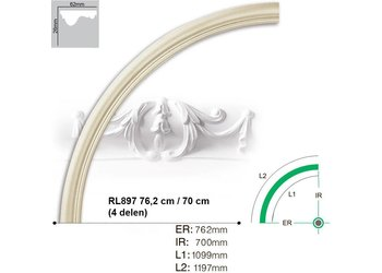 Grand Decor Rozet ring RL897 radius 76,2 cm / 70 cm (4 delen)