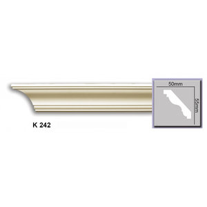 Grand Decor Plafondlijst P931 / K242 (55 x 50 mm), polyurethaan, lengte 2 m