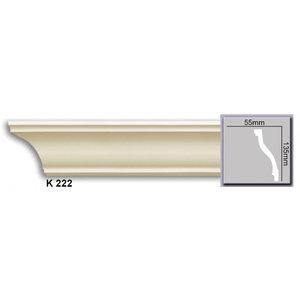 Grand Decor Plafondlijst K222 / P918 (135 x 55 mm), polyurethaan, lengte 2 m