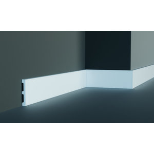 Grand Decor Platte plint M203 / CR932 (80 x 11 mm) polyurethaan, lengte 2 m