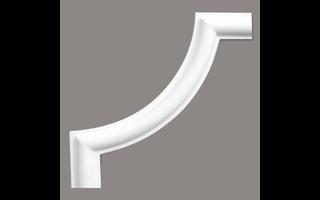 Grand Decor CR954A hoekbochten (130 x 130 mm), polyurethaan, set (4 hoeken)