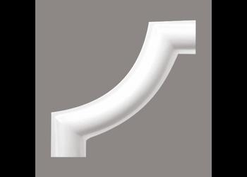 Grand Decor M220-2 / CR954B hoekbochten (80 x 80 mm), polyurethaan, set (4 hoeken)
