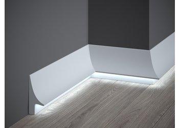 Lijst & Ornament Plint LED QL007 (93 x 42 mm), lengte 2 m