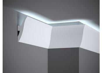 Lijst & Ornament Plint LED QL009 (120 x 47 mm), lengte 2 m