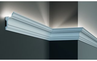 Grand Decor KF717 (81 x 45 mm), lengte 2 m, PU - LED sierlijst voor indirecte verlichting