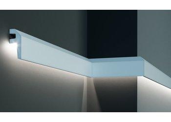 Grand Decor Polyurethaan - LED sierlijst voor indirecte verlichting, KF718 (79 x 34 mm), lengte 2 m