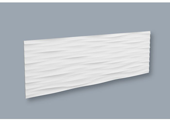 NMC 3D Wallpanel / Wandpaneel Wave Polyurethaan (1135 x 380 x 18.5 mm) - 7 Wandpanelen