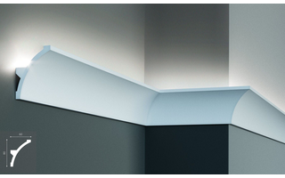 Grand Decor KF702 (80 x 60 mm), lengte 2 m, PU - LED sierlijst voor indirecte verlichting